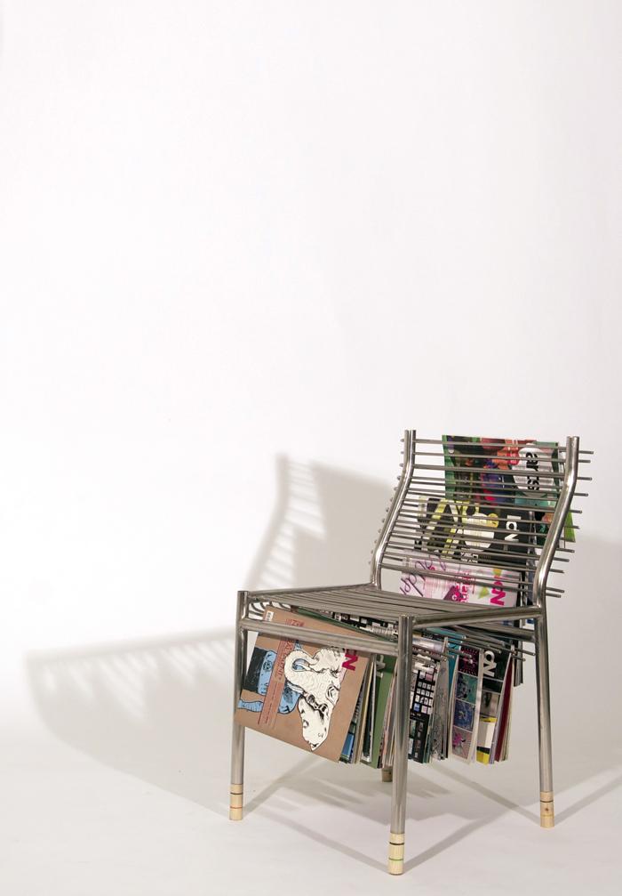 Magazine Rack Chair By Seung Han Lee