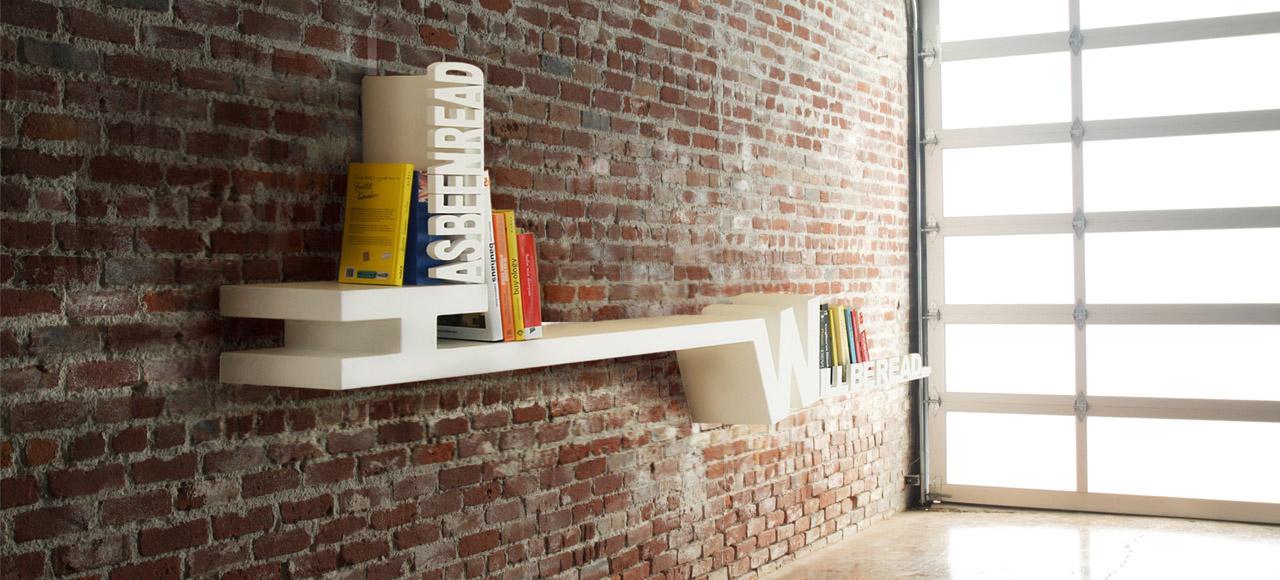 Typographic Bookshelf by Mebrure Oral