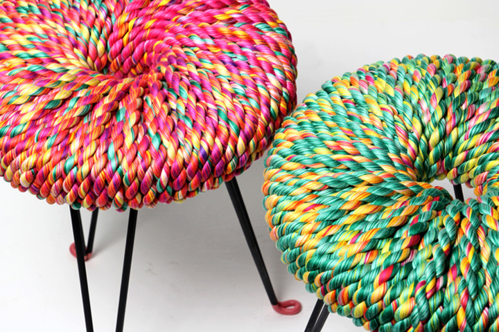 Surrounded Stools by Els Woldhek