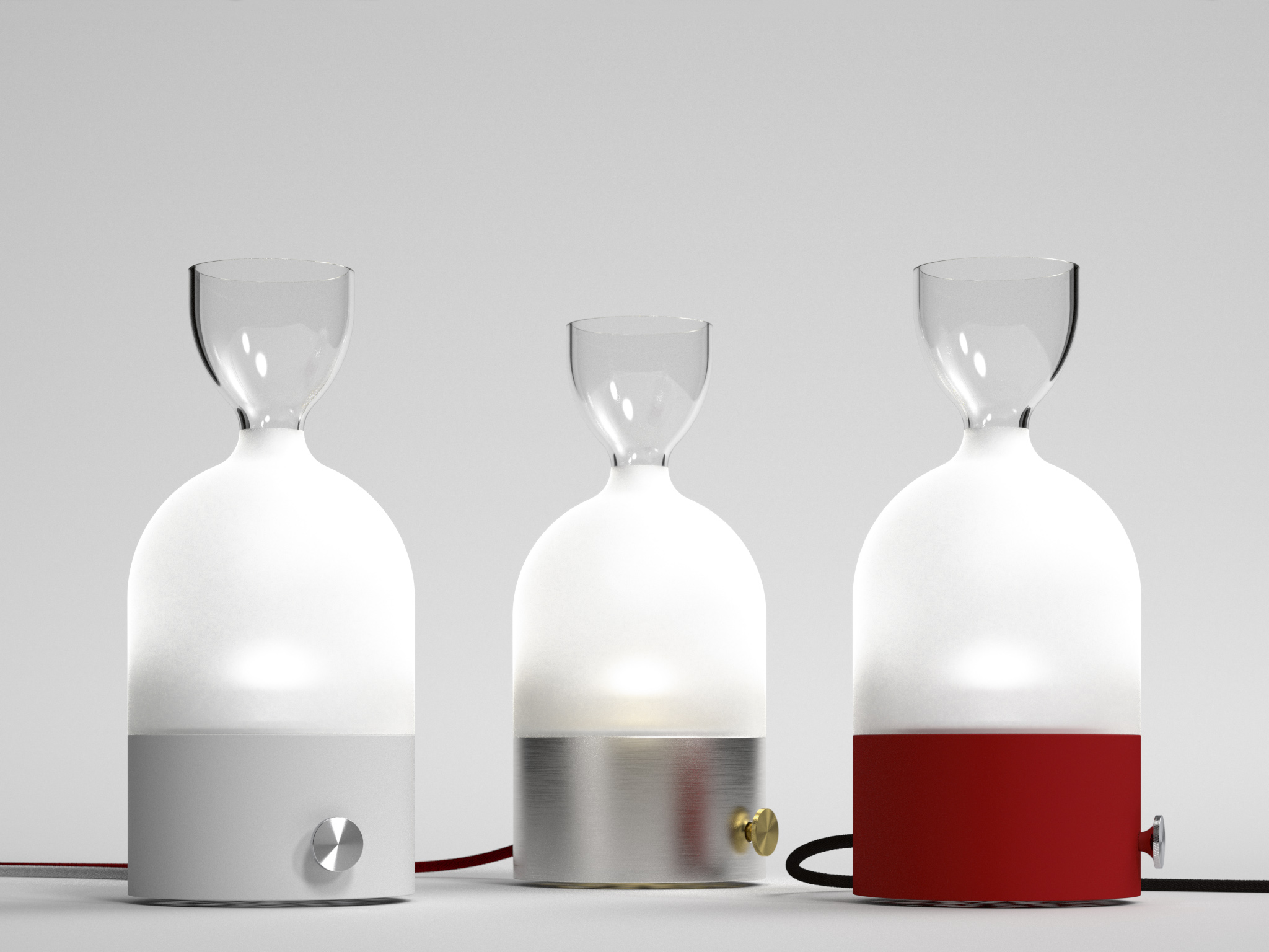 Laval Table Lights by Hopf