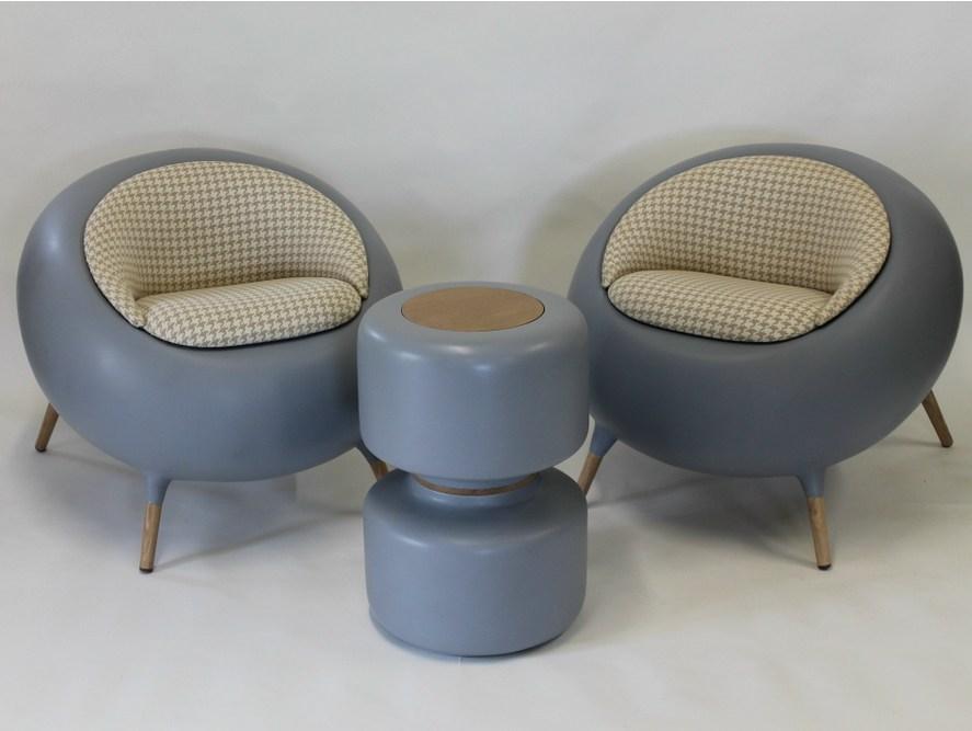 Acari Lounge Chair by Binome