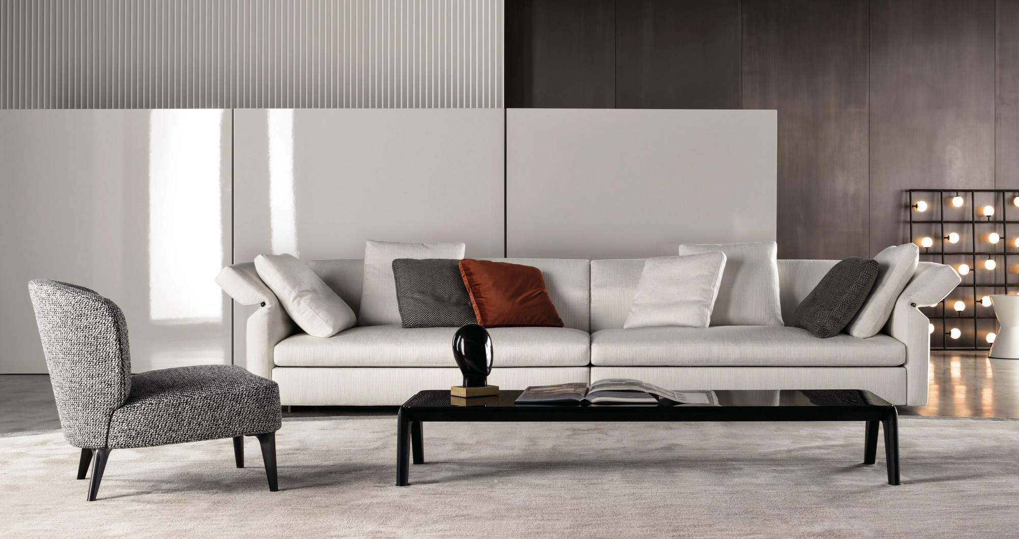 collar sofa by rodolfo dordoni for minotti sohomod blog. Black Bedroom Furniture Sets. Home Design Ideas