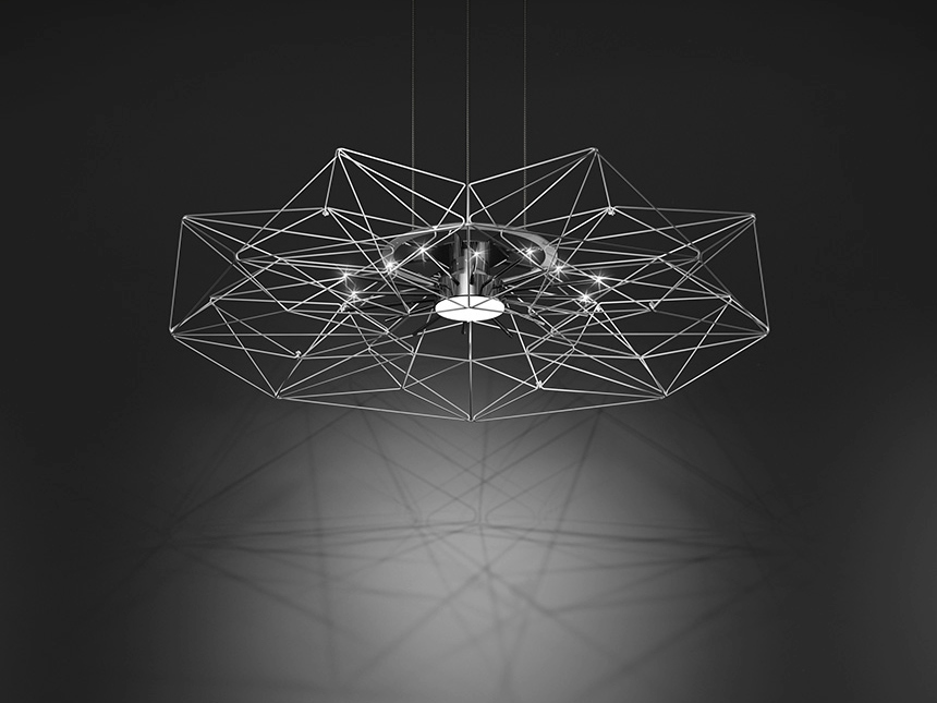 AltaTensione Pendant Lamp by Massimo Mussapi for METAL LUX HIGHLIGHT