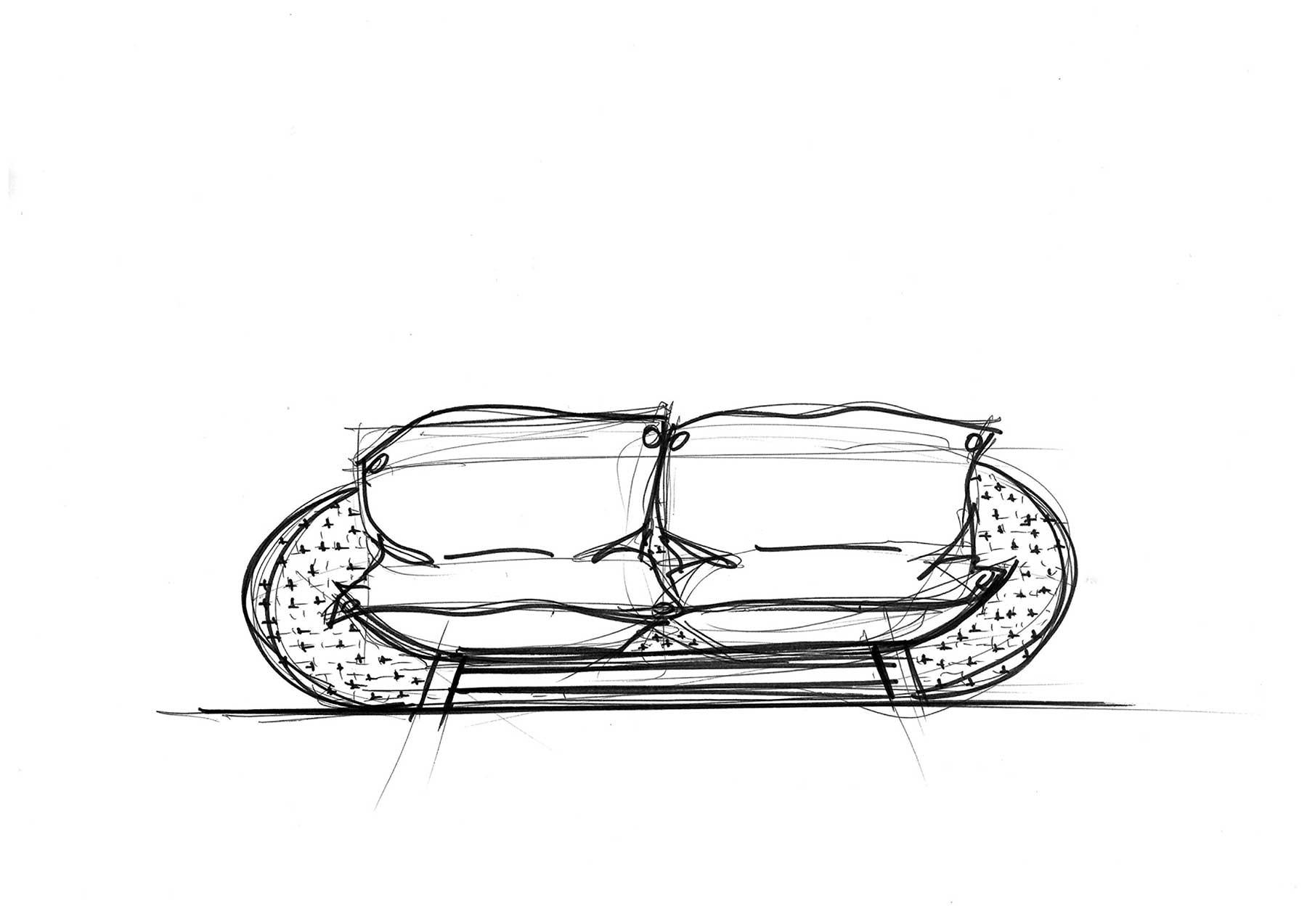 Sketch of OUFS Sofa by Alexandre Boucher