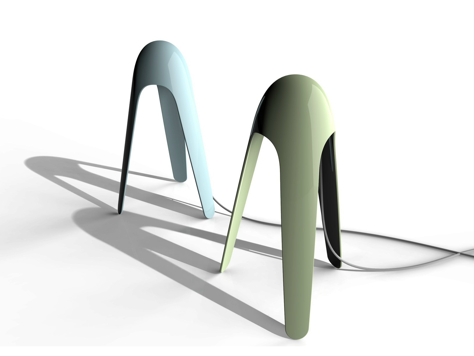 Cyborg Table Lamp by Karim Rashid for Martinelli Luce
