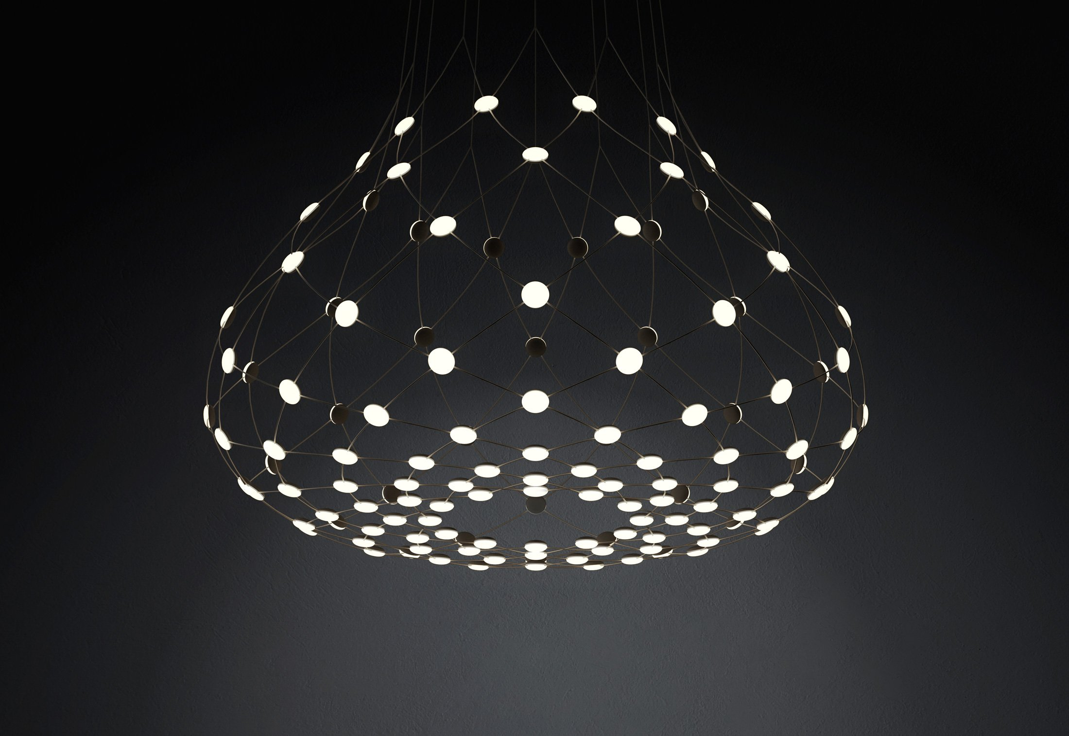 mesh suspension lamp by francisco gomez paz for luceplan sohomod blog. Black Bedroom Furniture Sets. Home Design Ideas