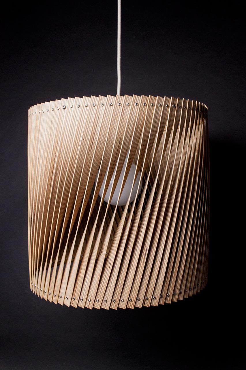 Upcycle Lamp TWIST by Benjamin Spöth
