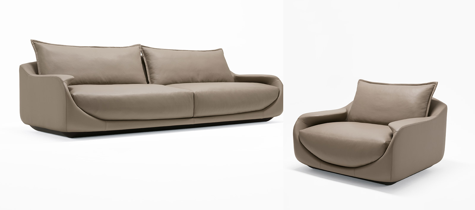 Martini Loveseat & Chair by Rossella Pugliatti for Giorgetti