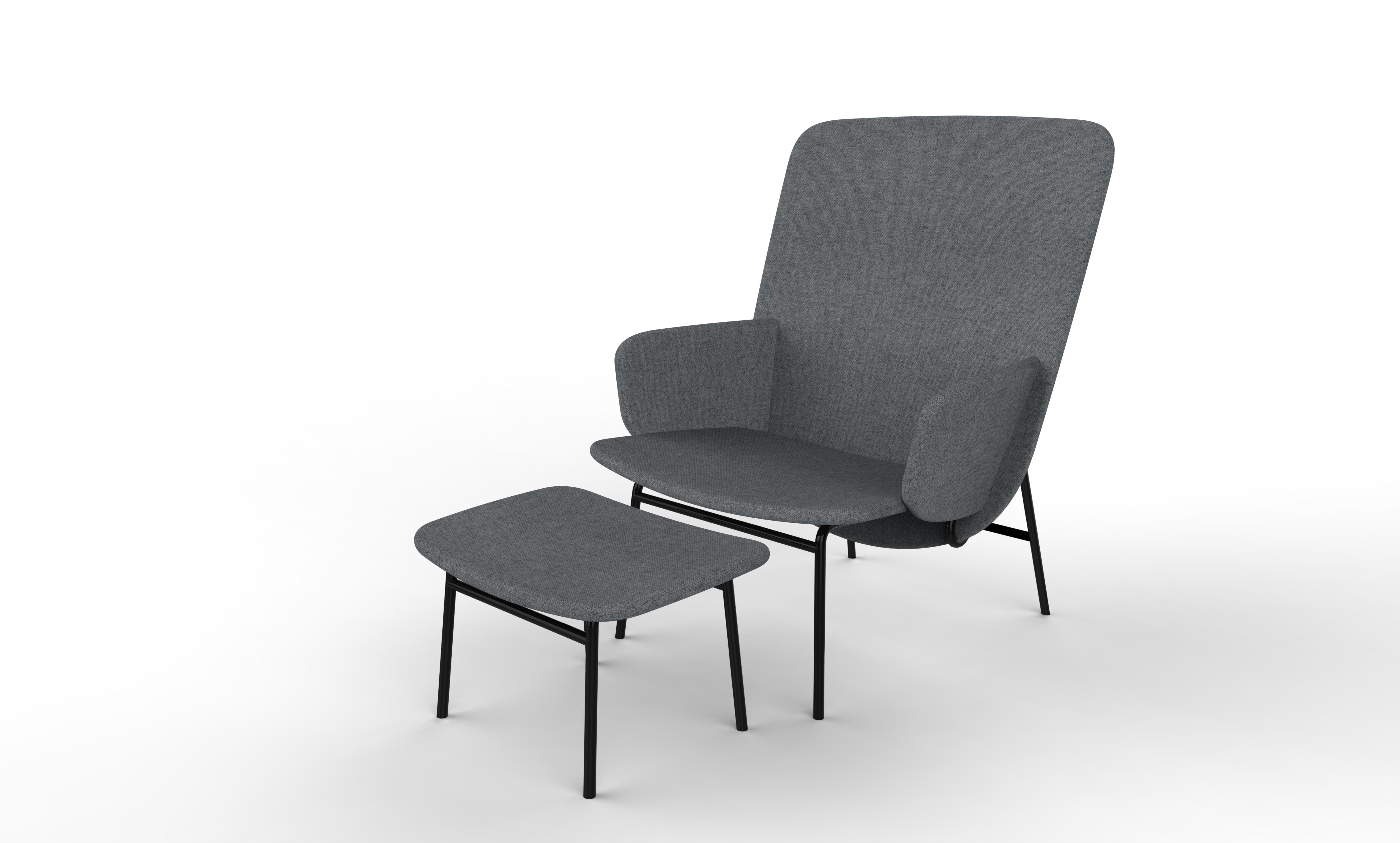 Ala Armchair & Footstool by Sebastian Herkner for La Cividina