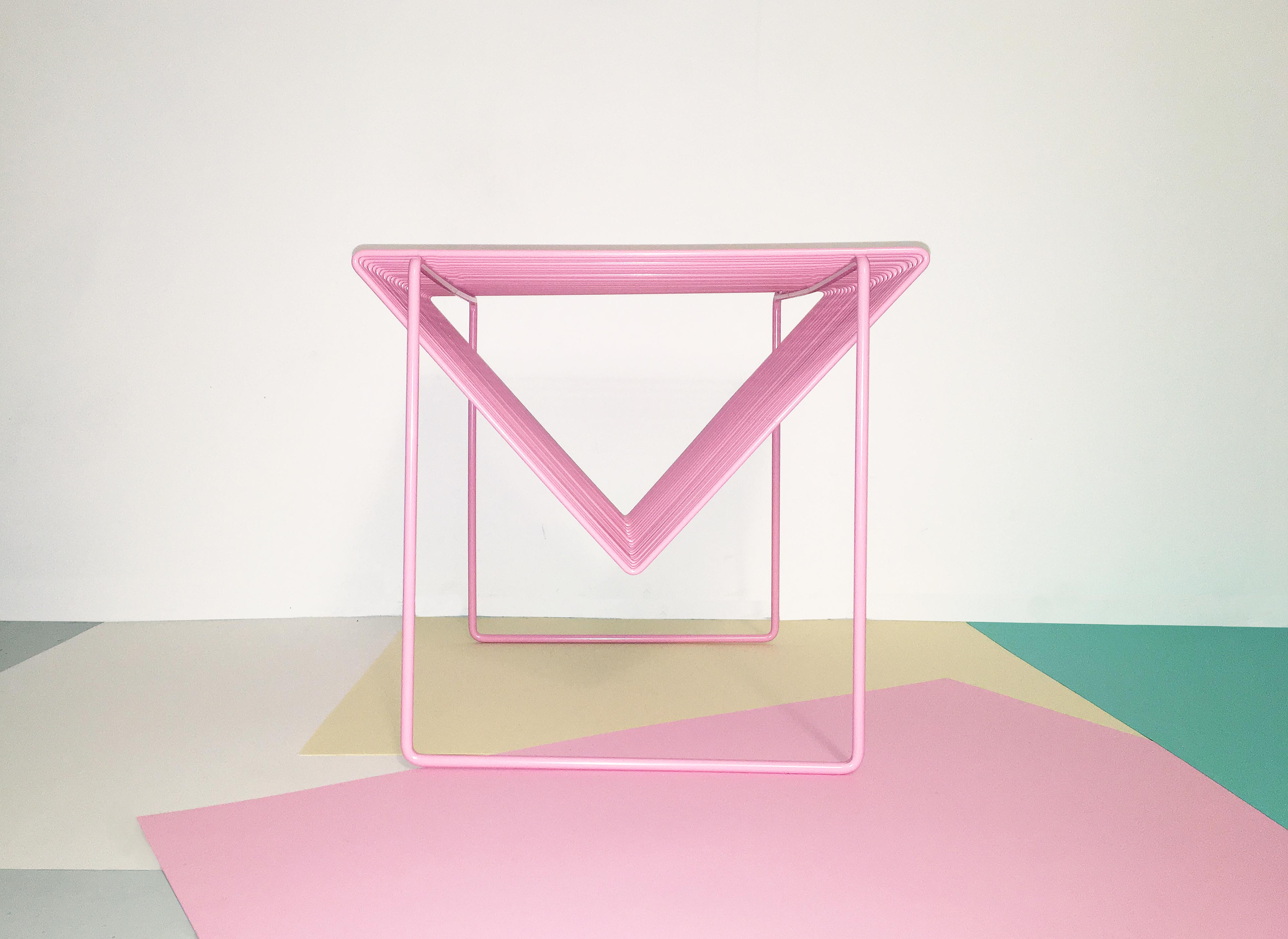 Steel Wire Side Table by Bordbord