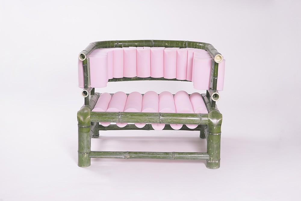 Personal Bamboo Sofa by Tadeáš Podracký
