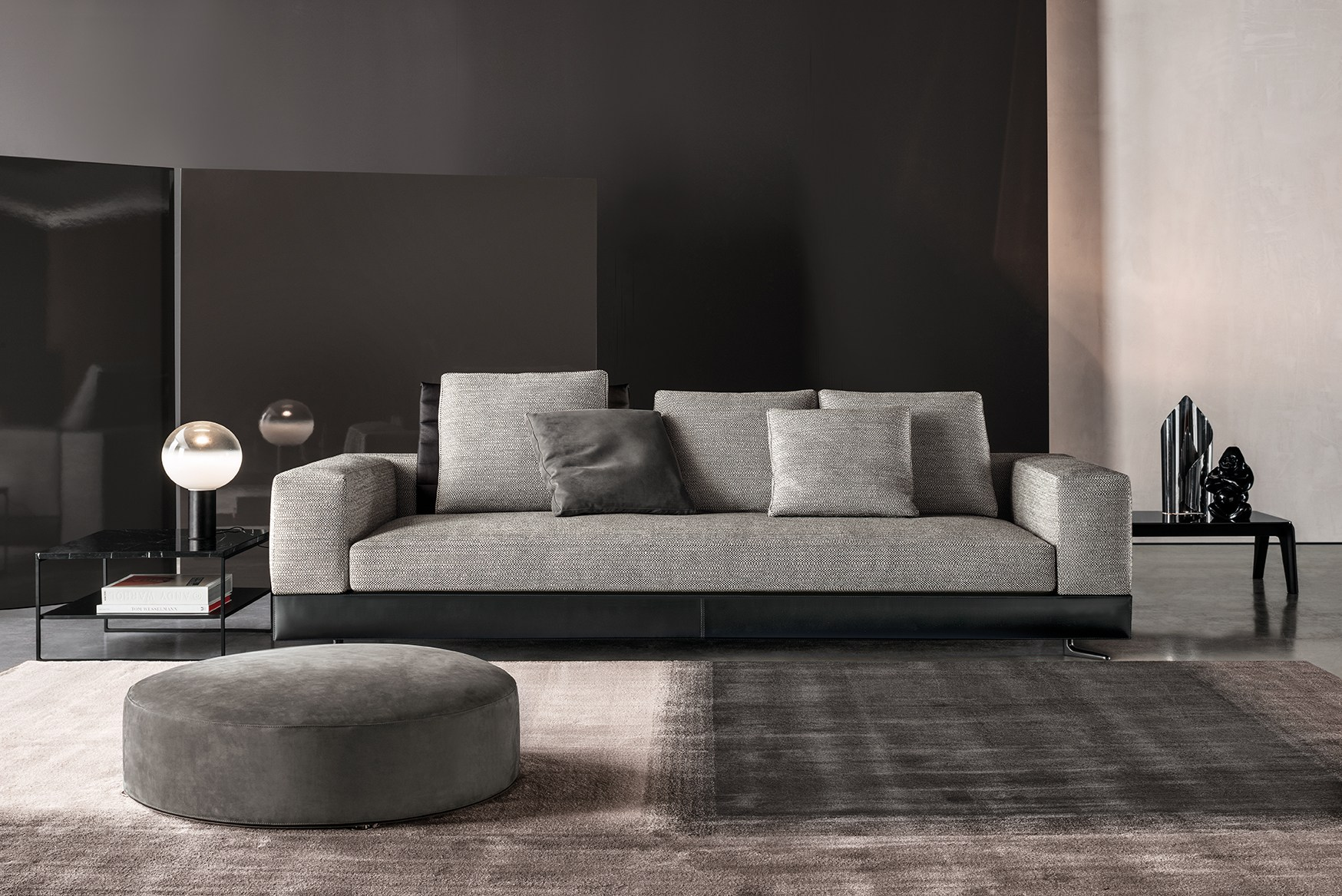 white seating system by rodolfo dordoni for minotti. Black Bedroom Furniture Sets. Home Design Ideas