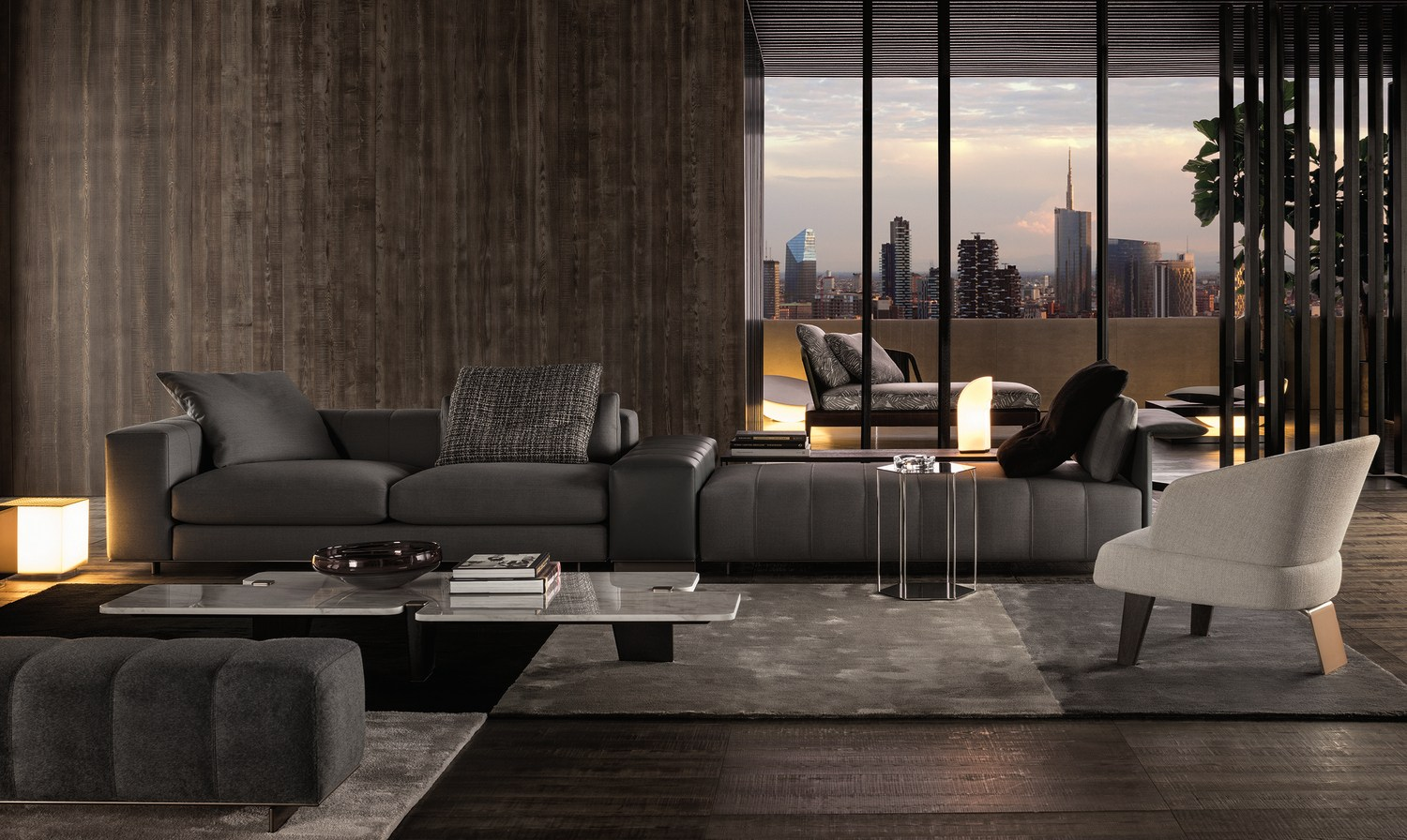 freeman modular sofa by rodolfo dordoni for minotti. Black Bedroom Furniture Sets. Home Design Ideas