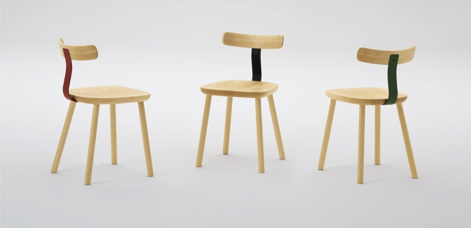 T Chairs by Jasper Morrison for Maruni