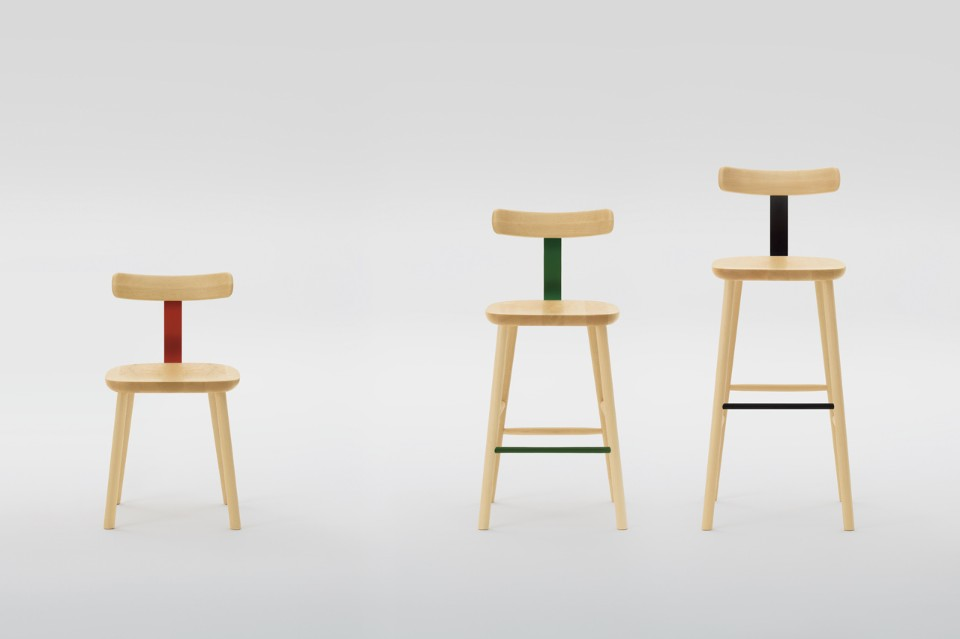 T Chair & Stools by Jasper Morrison for Maruni