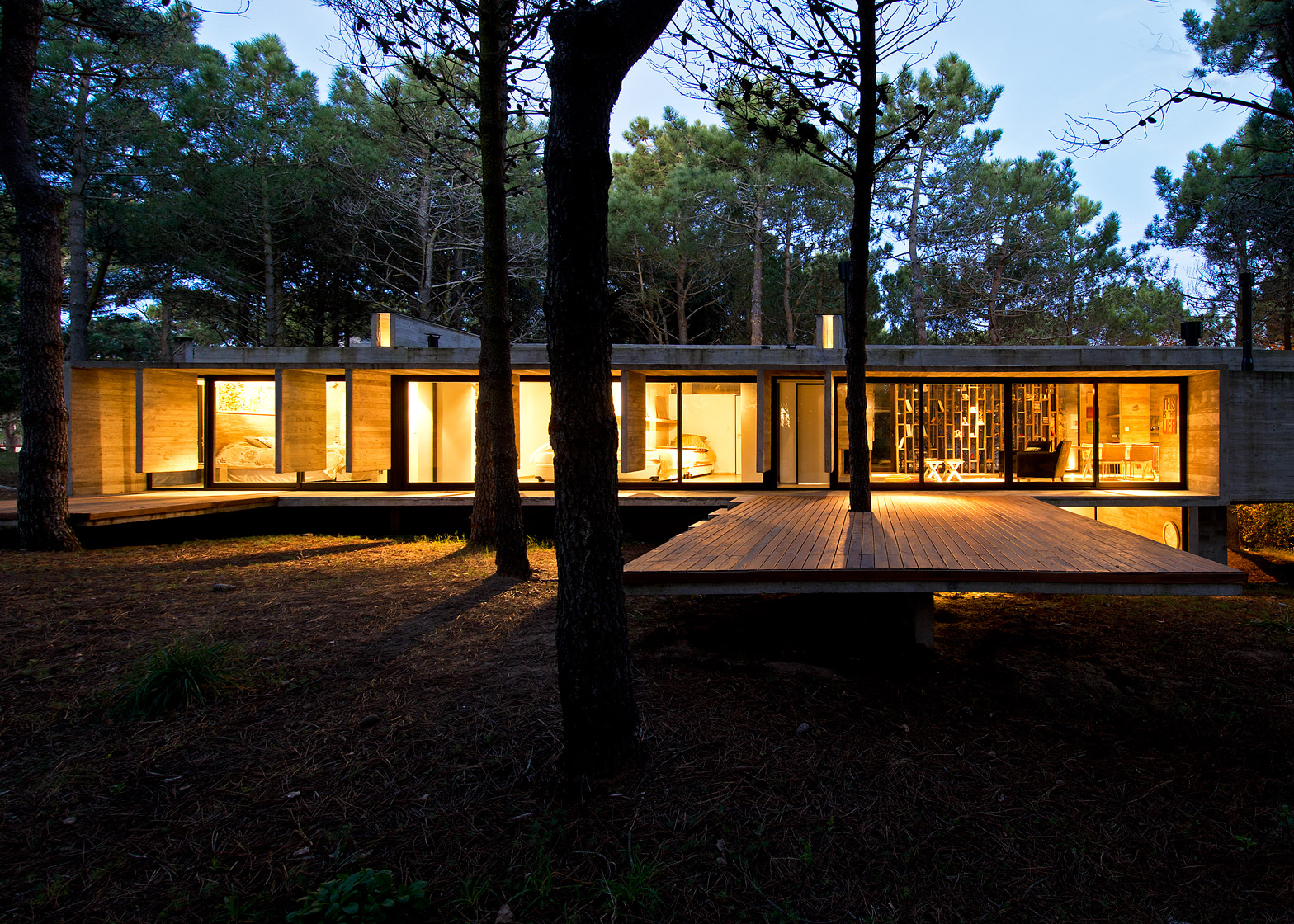 Concrete holiday home in forest glade sohomod blog for Holiday home designs victoria