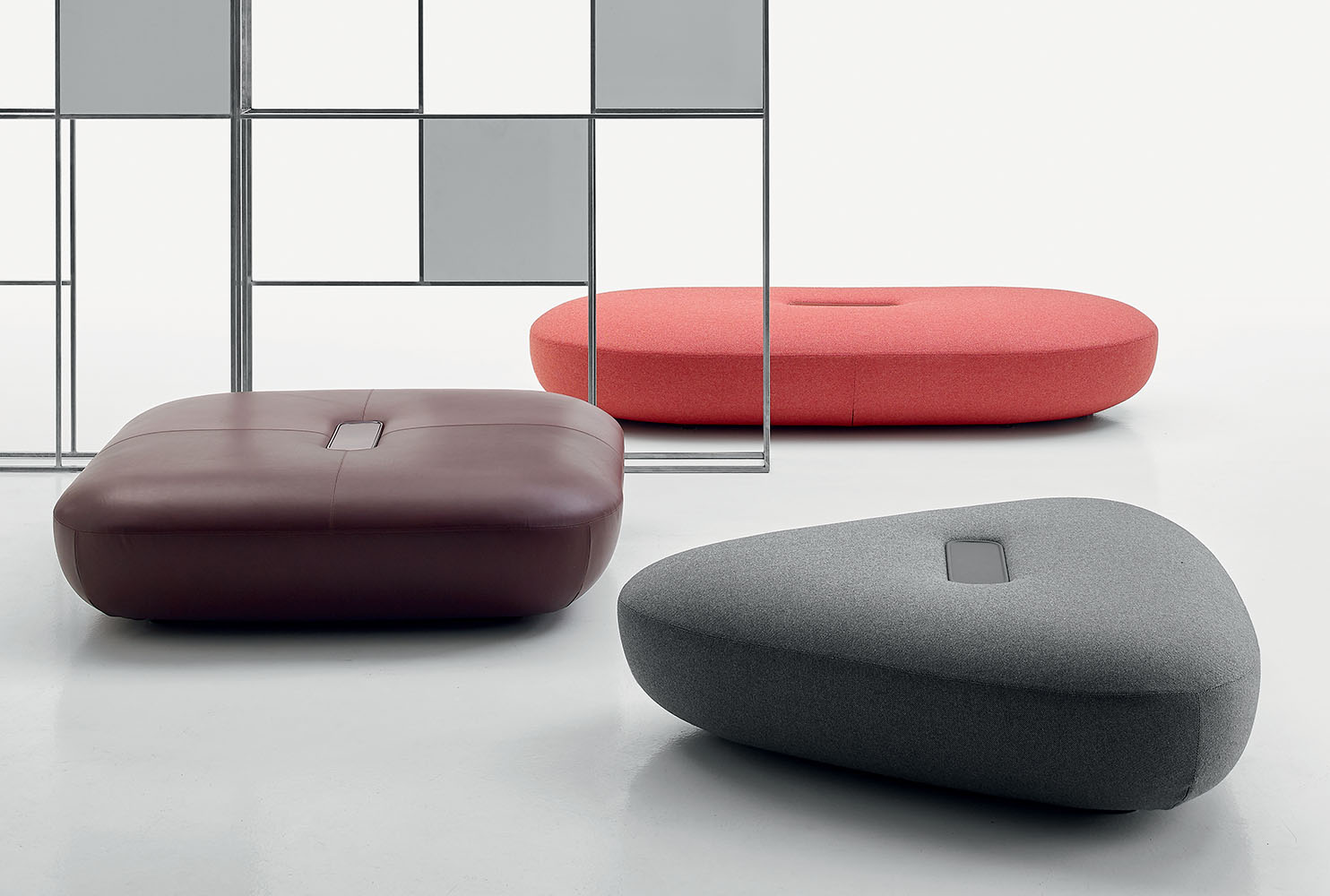 Tabour Ottomans by Doshi Levien for B&B Italia