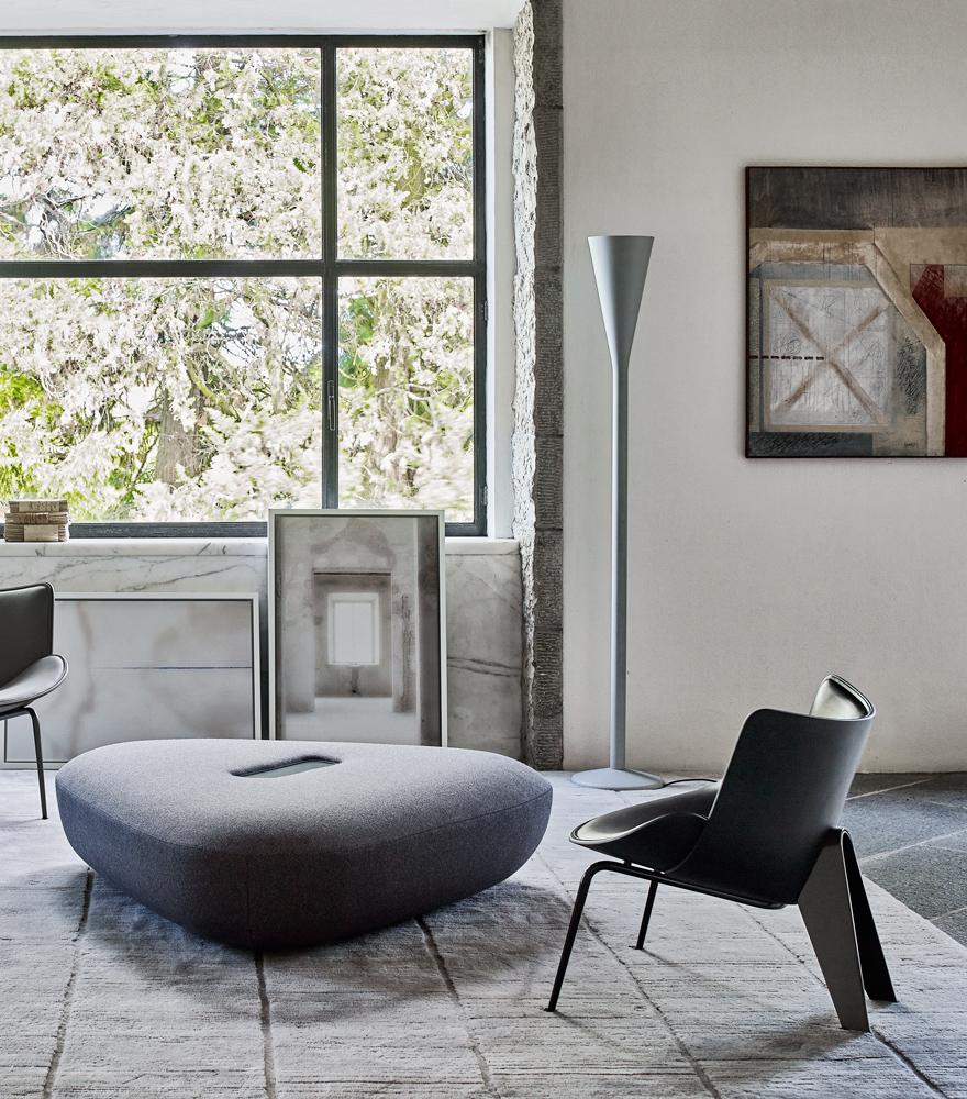 Tabour Ottoman by Doshi Levien for B&B Italia