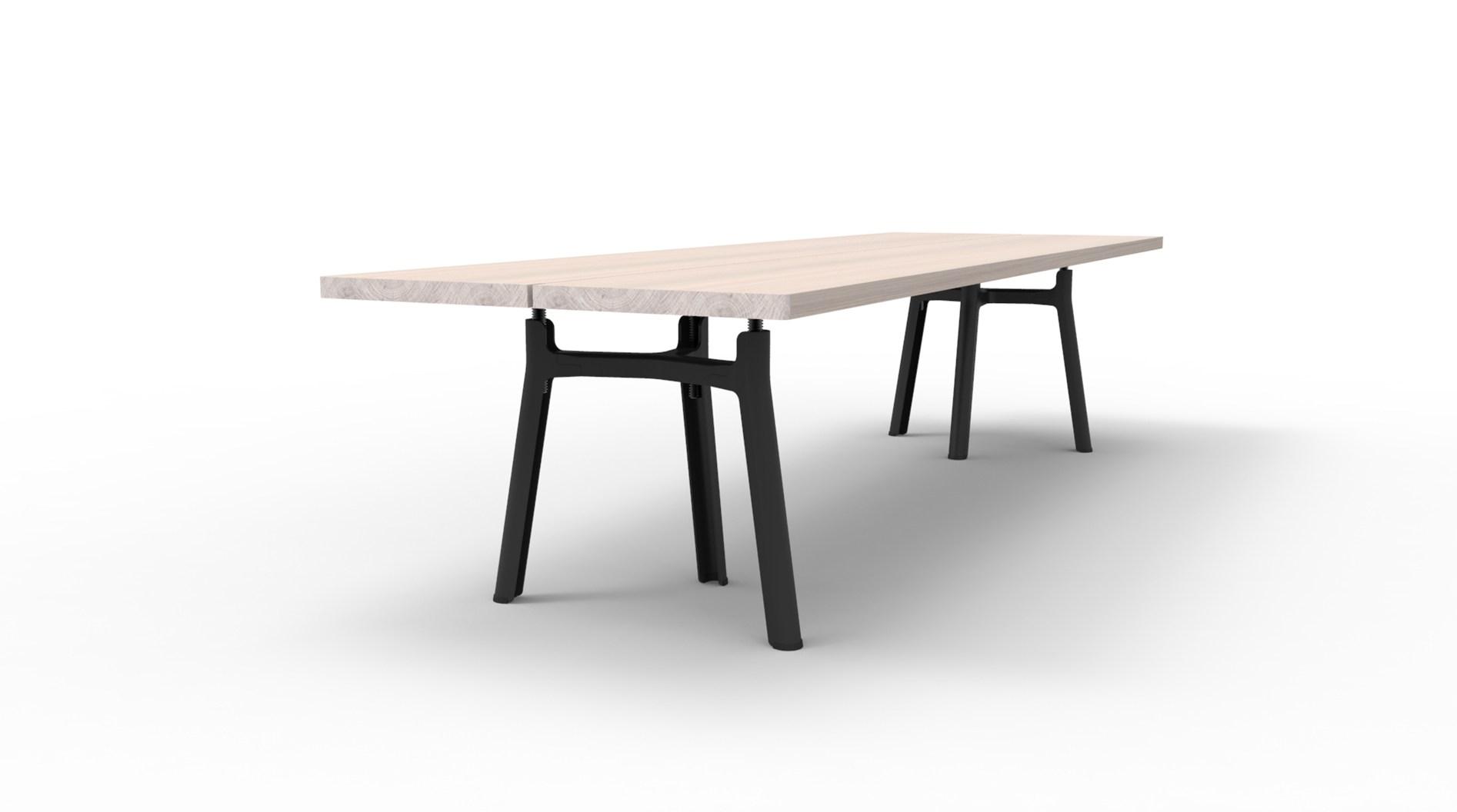 trestle oak table by jorre van ast for arco sohomod blog