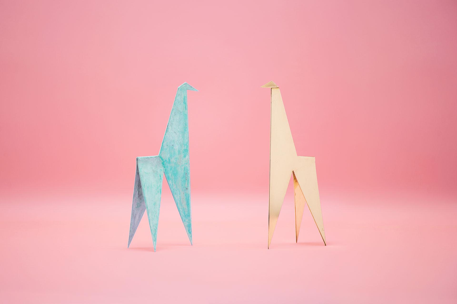 Zapalgo Origamo Small Copper Sculptures