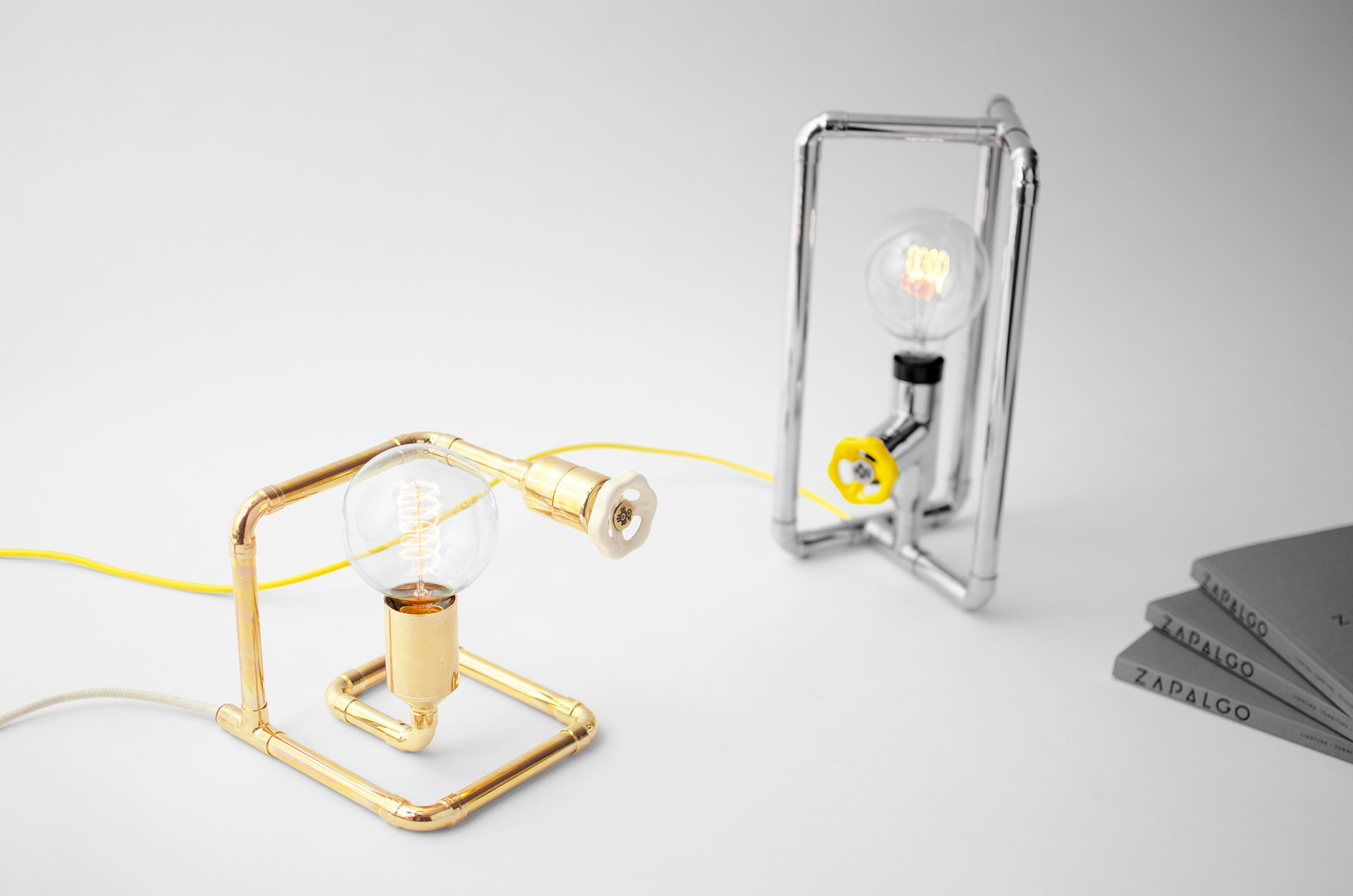 Zapalgo Stopo and Tribo.K Dimmable Table Lamps