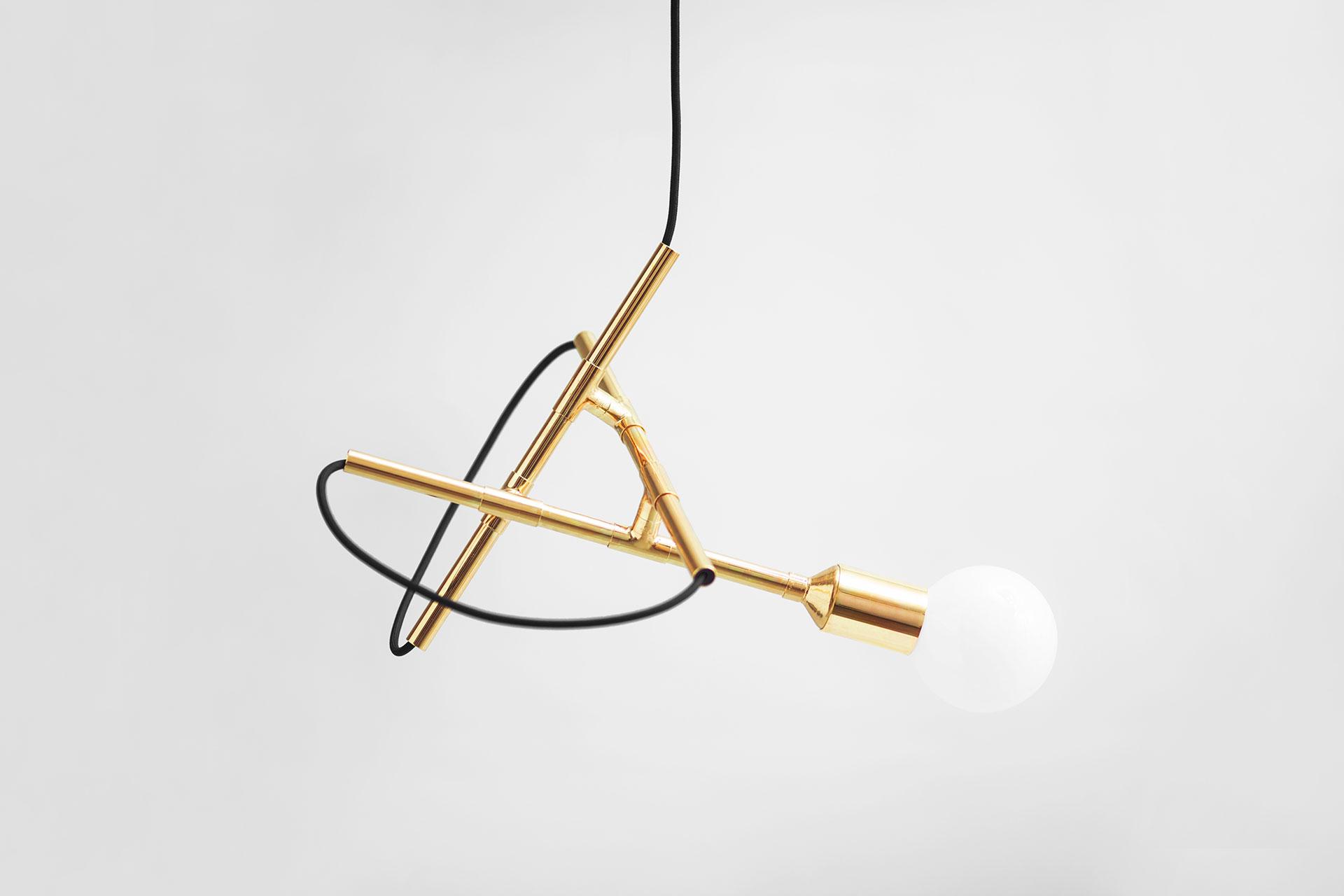 Zapalgo Zoido Ceiling Lamp in brass