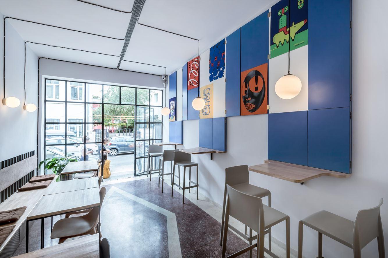Soto- a café-bar in Bucharest, Romania by 441 Design Studio