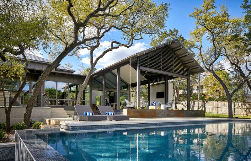 The Bridge House by Furman + Keil Architects in Austin, Texas