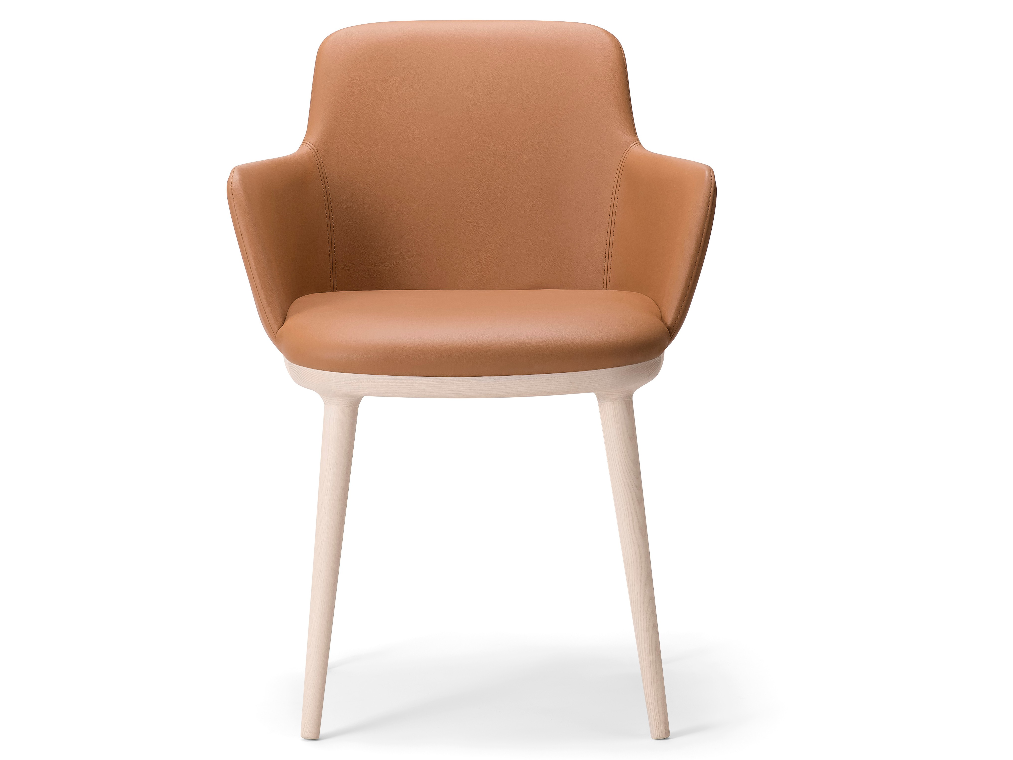 Upholstered chair with Armrests by Enrico Franzolini