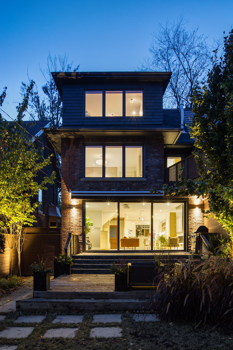 A Contemporary Update for Semi-Detached Home by Altius Architecture in Toronto, Canada