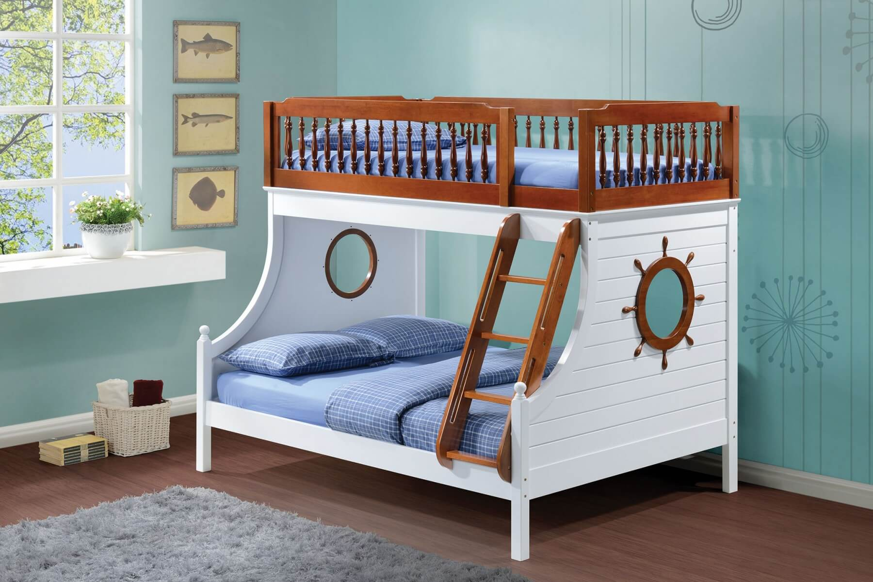 Farah Full Twin Size Bunk Bed Buy line at Best Price SohoMod