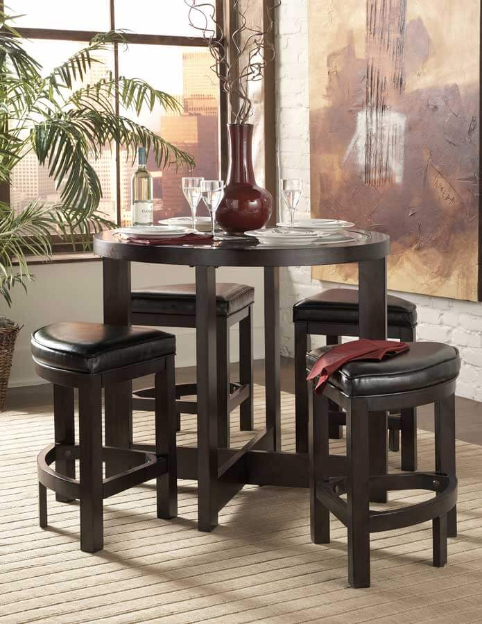 Brussel Pub Dining Set (Table + 4 Stools) Buy Online At Best Price   SohoMod