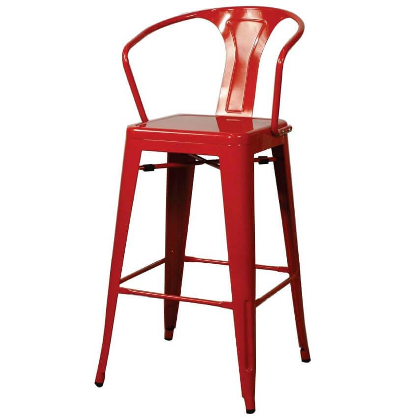 metropolis low back bar stool
