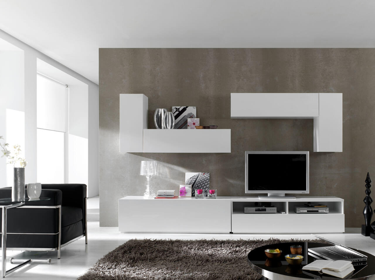 Modular Wall Unit Composition 1 White Buy Online at Best Price