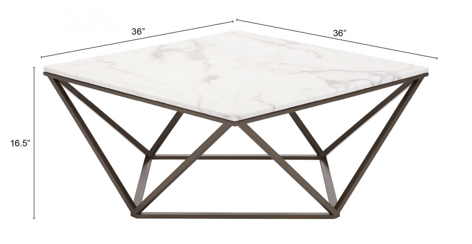Tintern Faux Marble Coffee Table Stone Amp Antique Brass By