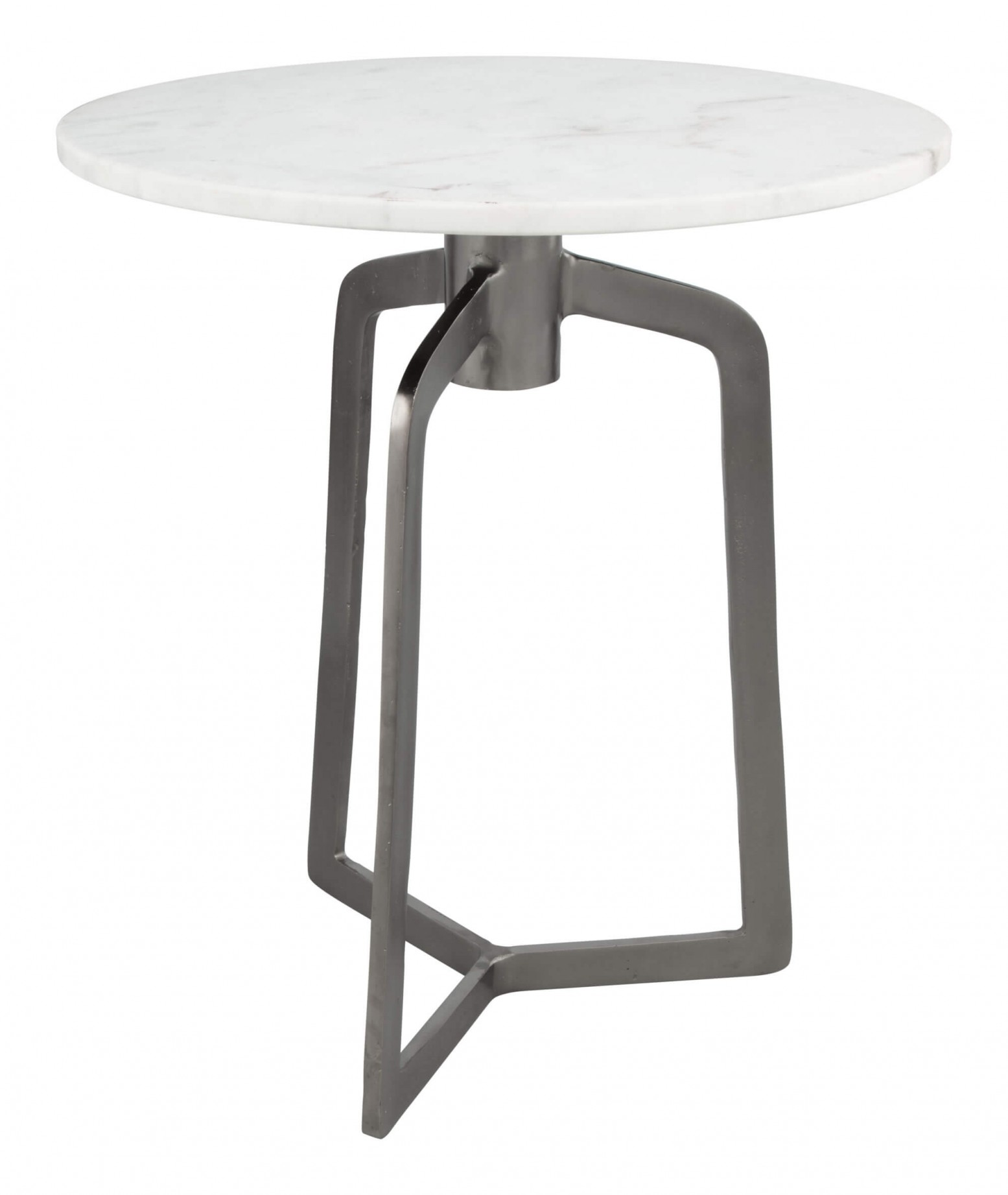 Rand Marble Side Table White Marble Black By Zuo Modern Sohomod Com