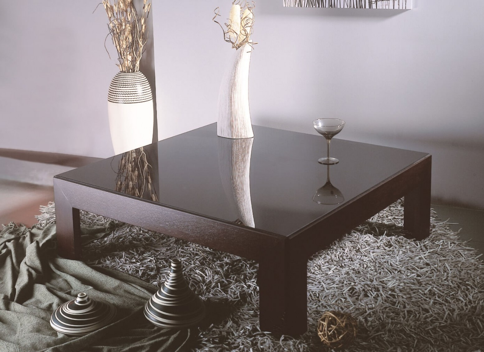 Picture of: Narciss Square Glass Wood Coffee Table Black Glass Wenge By Beverly Hills Furniture Sohomod Com