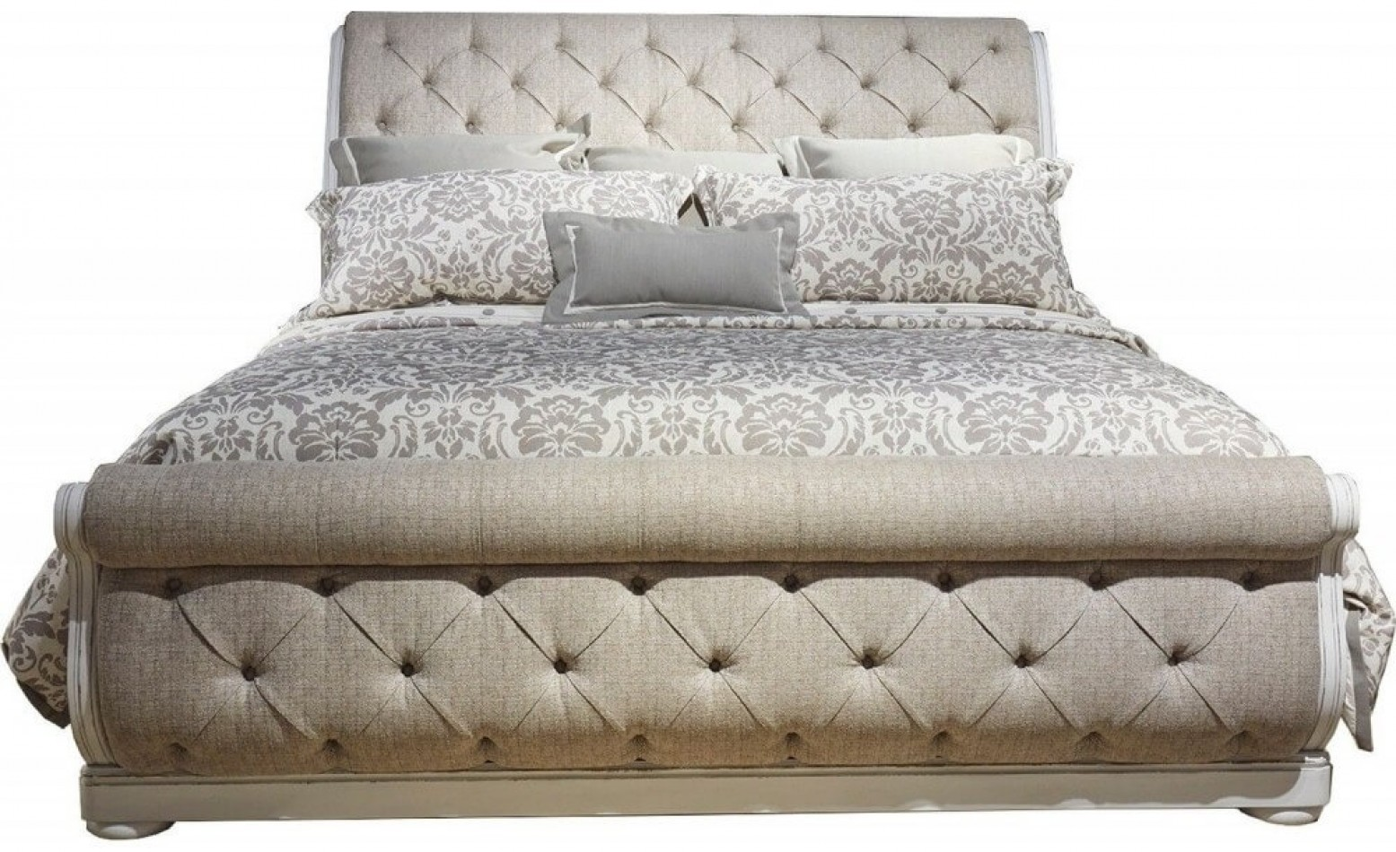 Picture of: Liberty Sm Magnolia Manor Fabric Wood Sleigh Bed King Size Antique White Sohomod Com