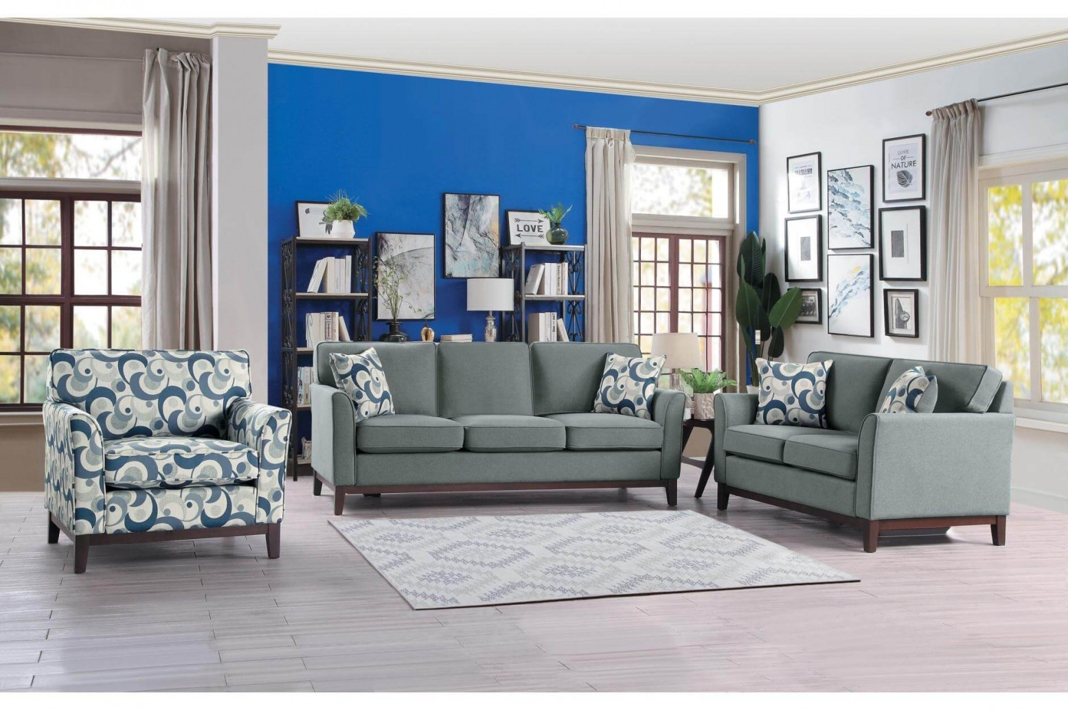 Super Blue Lake Fabric Living Room Set Download Free Architecture Designs Scobabritishbridgeorg