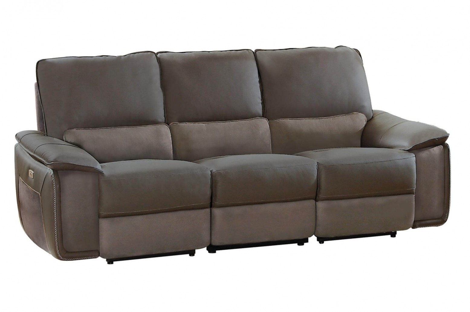 Superb Corazon Leather Fabric Power Double Reclining Sofa Download Free Architecture Designs Scobabritishbridgeorg