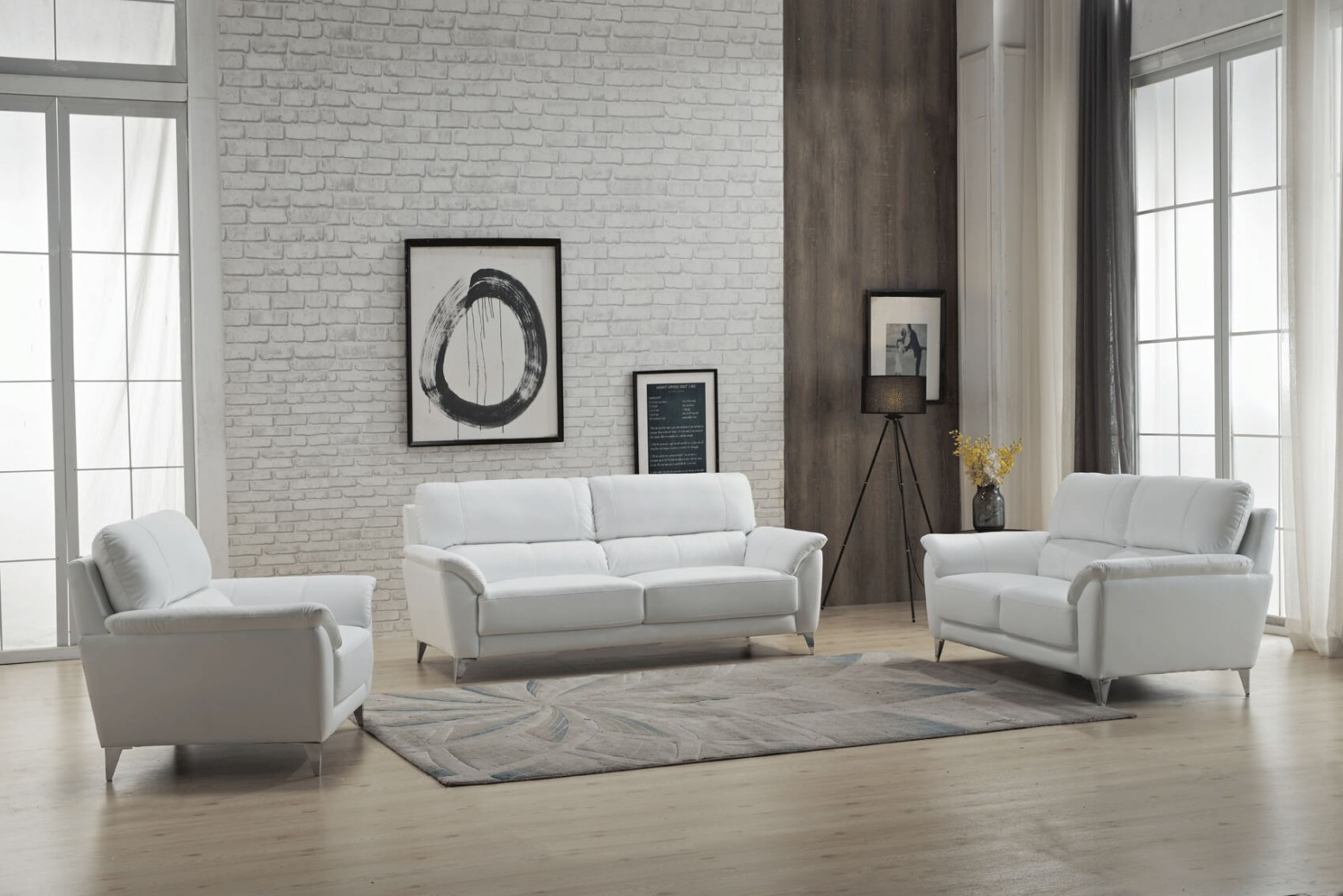 406 Leather/Eco-Leather Living Room Set