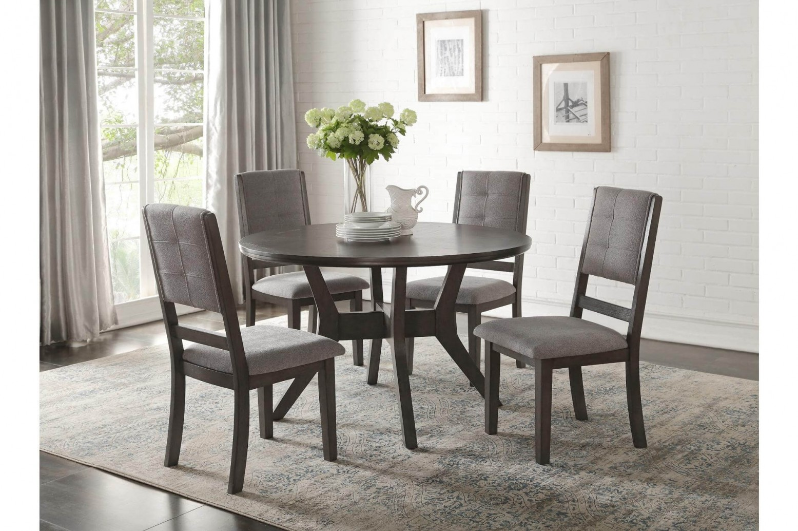 Nisky Transitional Dining Room Set