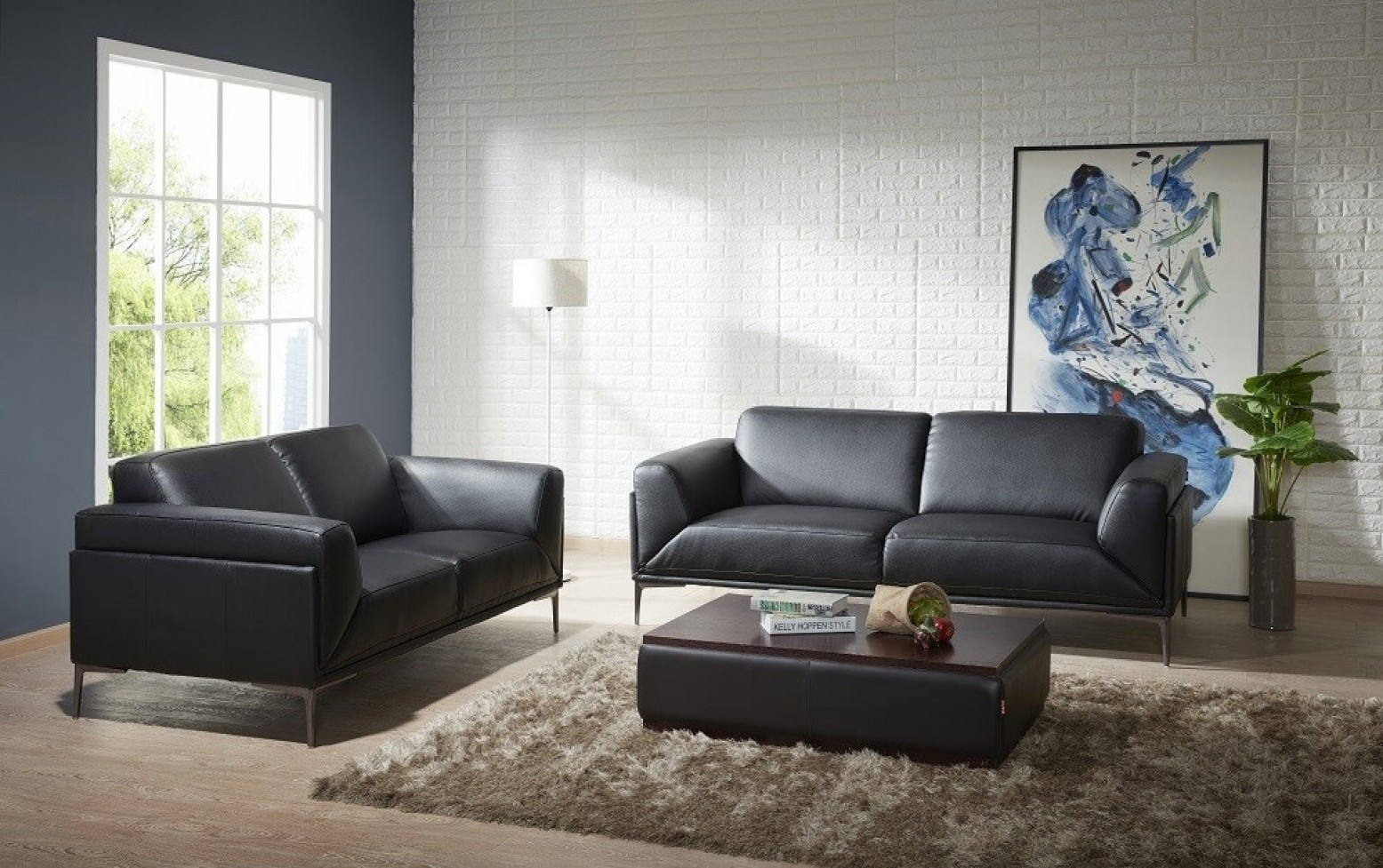 Knight Leather Sofa Set