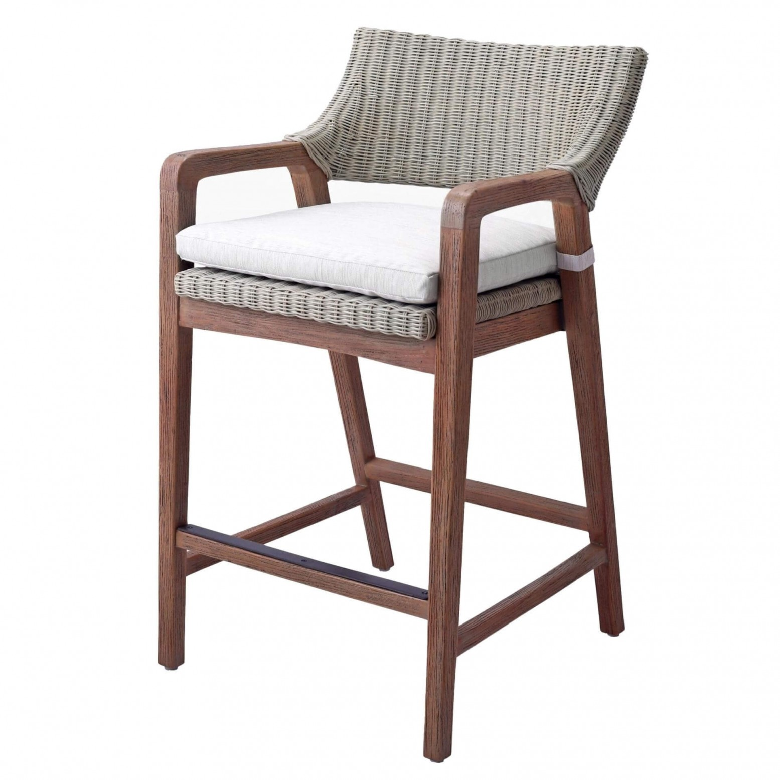 Prime Shiloh Fabric Rattan Wood Counter Stool Ibusinesslaw Wood Chair Design Ideas Ibusinesslaworg