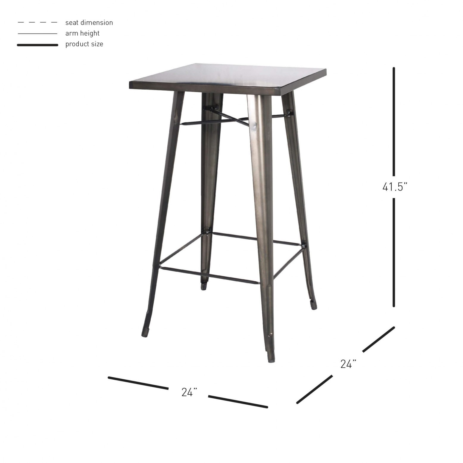 Groovy Metropolis Kd Metal Bar Table Caraccident5 Cool Chair Designs And Ideas Caraccident5Info