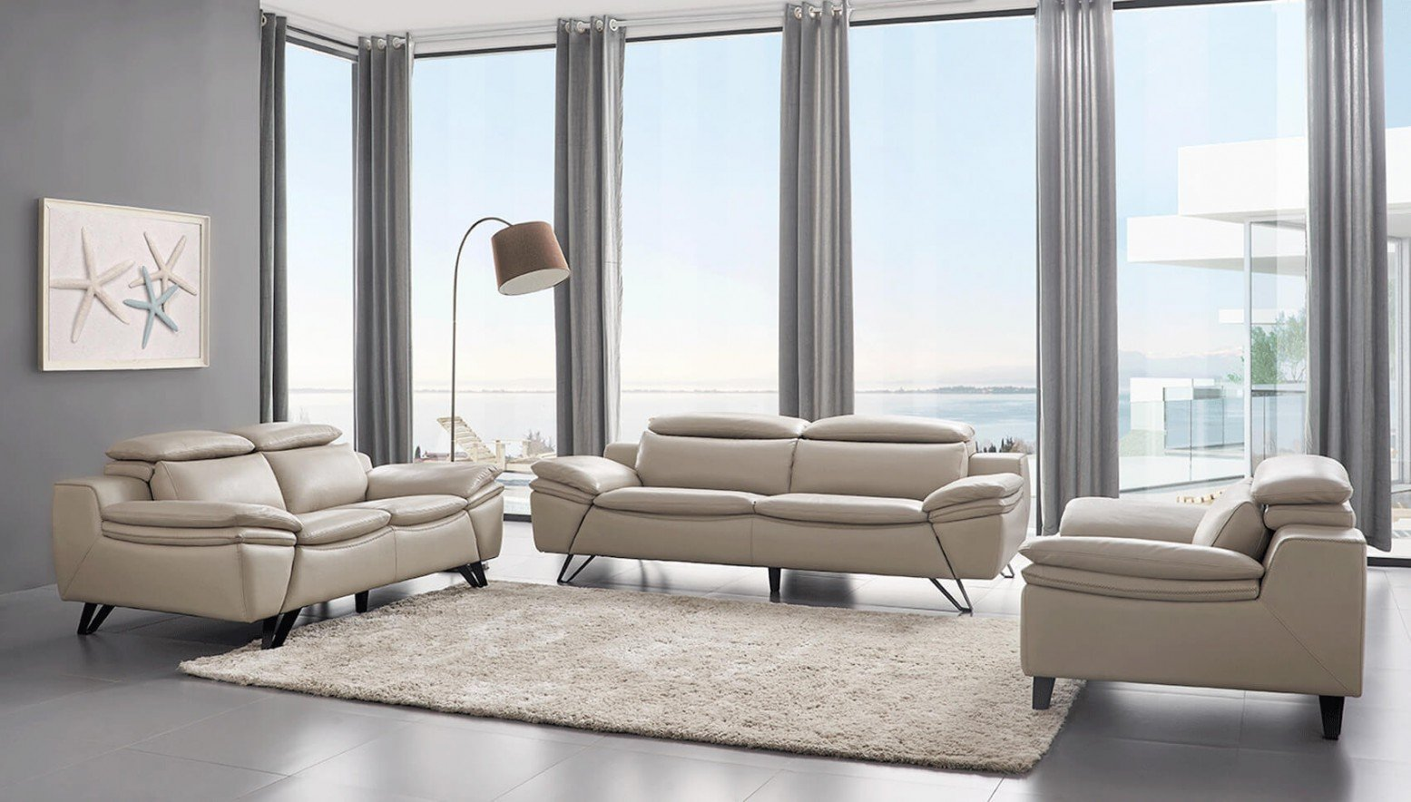 973 Leather/Eco-Leather Living Room Set by ESF Furniture ...