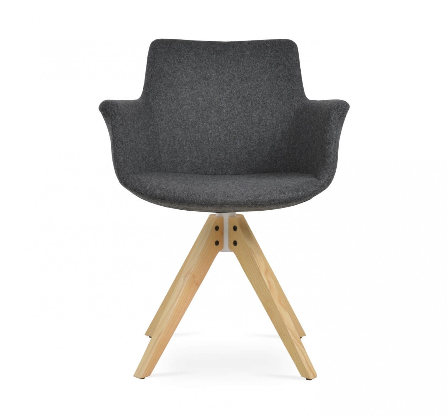 Awesome Bottega Pyramid Swivel Dining Chair Ncnpc Chair Design For Home Ncnpcorg