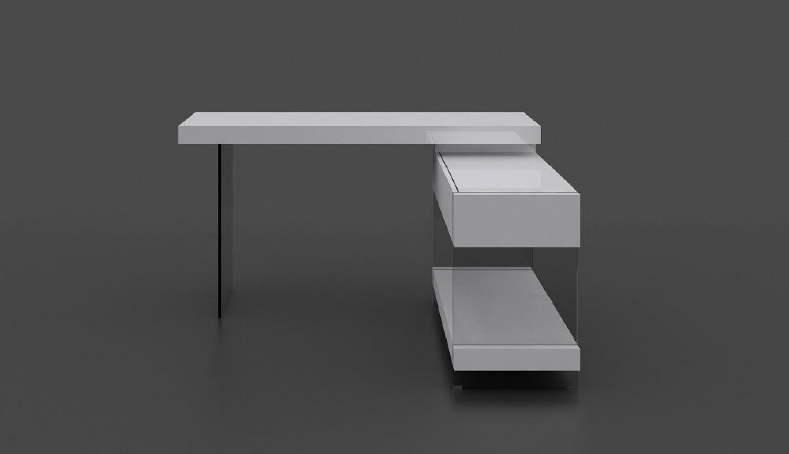... Cloud Modern Office Desk With Storage Drawers For Sale ...