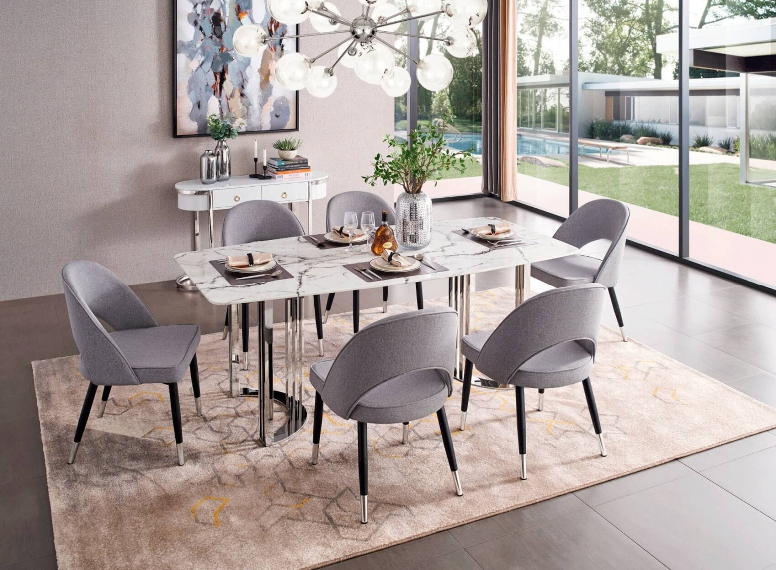 131 Modern Dining Room Set By Esf Furniture Sohomod Com