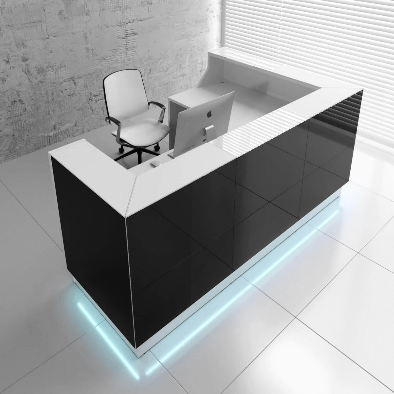 LINEA L Shaped Reception Desk